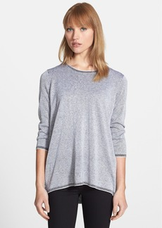 Nordstrom Collection Zip Vent Silk & Cashmere Top
