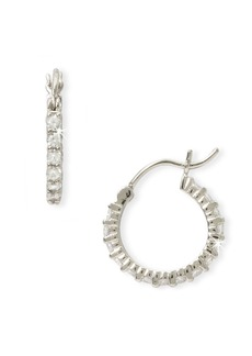 Nordstrom Cubic Zirconia Thin Hoop Earrings