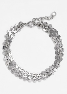 Nordstrom Disc Chain Three-Row Bracelet