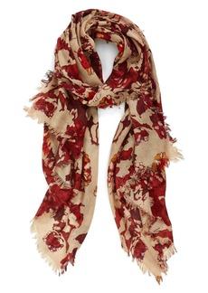 Nordstrom 'Dissolving Floral' Cashmere & Silk Scarf
