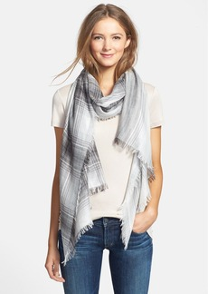 Nordstrom 'Fading Check' Cashmere & Silk Scarf