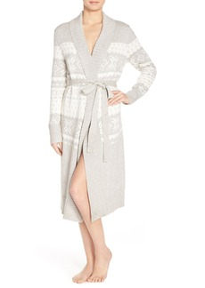 Nordstrom Lingerie Fair Isle Sweater Cotton Blend Robe