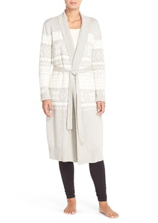 Nordstrom Fair Isle Sweater Cotton Blend Robe