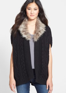 Nordstrom Faux Fur Trim Topper