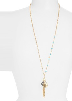 Nordstrom Feather Cluster Pendant Necklace