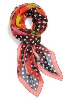 Nordstrom Floral Dots Silk Scarf