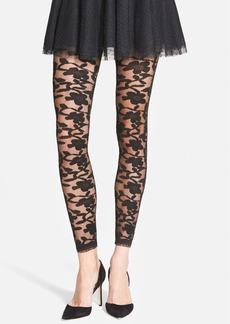 Nordstrom Floral Pattern Sheer Footless Tights