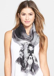 Nordstrom Floral Print Cashmere & Silk Scarf