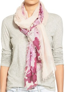 Nordstrom 'Floral Shadow' Cashmere & Silk Scarf