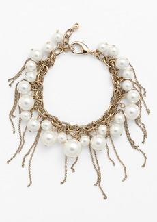 Nordstrom Fringed Faux Pearl Bracelet