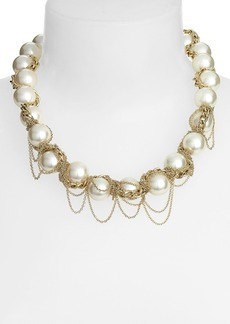 Nordstrom Fringed Faux Pearl Collar Necklace