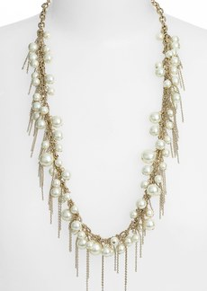 Nordstrom Fringed Faux Pearl Necklace