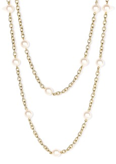 Nordstrom Glass Pearl Extra Long Strand Necklace