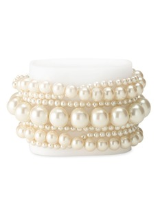 Nordstrom Glass Stretch Pearl Bracelet