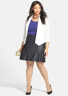 Nordstrom Heart Pattern Tights (Plus Size)