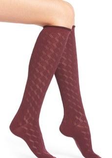 Nordstrom Heathered Diamond Knit Knee Socks