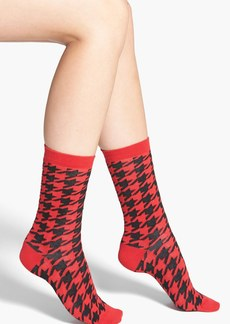 Nordstrom Houndstooth Crew Socks
