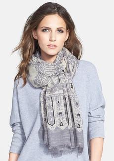 Nordstrom Jacquard Embellishment Wool Cashmere Blend Wrap
