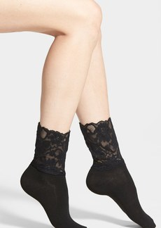 Nordstrom Lace Top Crew Socks