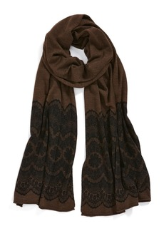 Nordstrom Lace Trim Merino Wool Scarf
