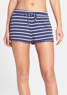 Nordstrom 'Lazy Mornings' Lace Hem Shorts