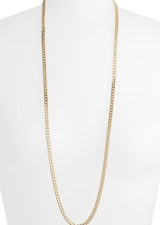 Nordstrom Long Flat Link Necklace