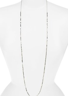 Nordstrom Long Metallic Beaded Necklace