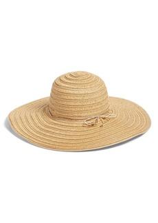 Nordstrom Metallic Braided Straw Floppy Hat