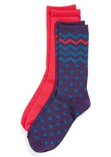 Nordstrom 'Mix Pattern' Crew Socks (2-Pack)