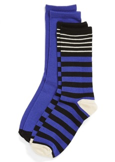 Nordstrom 'Mix Stripe' Crew Socks (2-Pack)