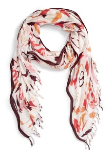 Nordstrom 'Painted Petals' Oblong Scarf