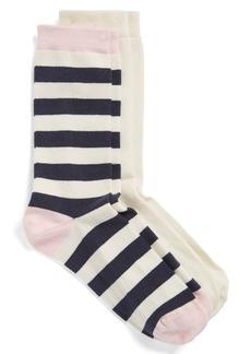 Nordstrom Patterned Crew Socks (2-Pack)