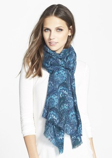Nordstrom 'Peacock Tissue' Wool Cashmere Blend Wrap