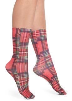 Nordstrom Plaid Crew Socks