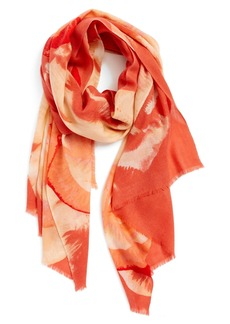 Nordstrom 'Rosy Reflection' Wool & Cashmere Scarf
