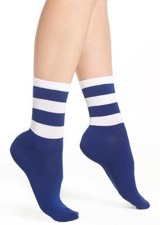 Nordstrom Rugby Stripe Crew Socks