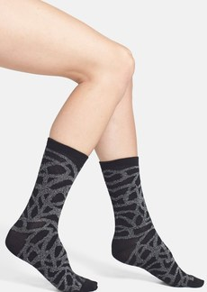 Nordstrom 'Scribble' Metallic Crew Socks