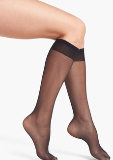 Nordstrom Sheer Toe Knee High Trouser Socks