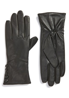 Nordstrom Side Button Leather Gloves