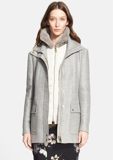 Nordstrom Signature and Caroline Issa 2-in-1 Parka with Genuine Shearling Collar