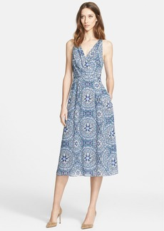 Nordstrom Signature and Caroline Issa Airy Print Chiffon Dress