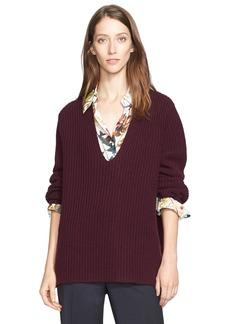 Nordstrom Signature and Caroline Issa 'Aran' Wool & Cashmere Sweater