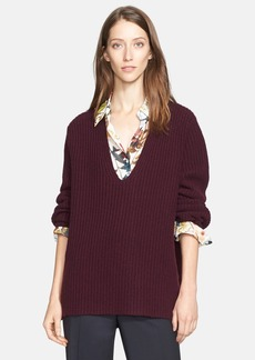 Nordstrom Signature and Caroline Issa 'Aran' Wool & Cashmere Sweater