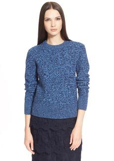 Nordstrom Signature and Caroline Issa Basket Weave Cashmere Sweater