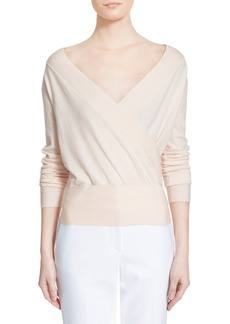 Nordstrom Signature and Caroline Issa 'Carrie' Surplice Cashmere Blend Pullover