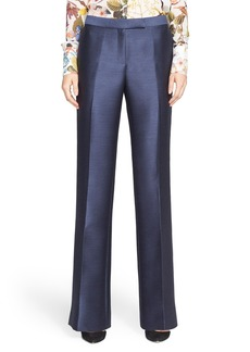 Nordstrom Signature and Caroline Issa Flare Leg Mohair Blend Pants