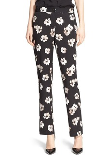 Nordstrom Signature and Caroline Issa Floral Print Silk Twill Pants
