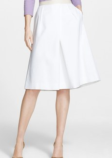 Nordstrom Signature and Caroline Issa Full Pleat Cotton Blend Skirt