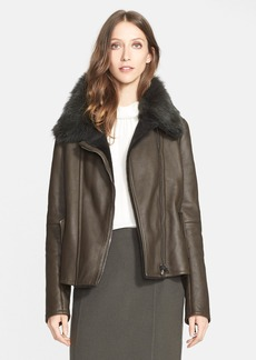 Nordstrom Signature and Caroline Issa Genuine Shearling Coat