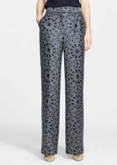 Nordstrom Signature and Caroline Issa Geo Print High Waist Wool & Silk Pants
